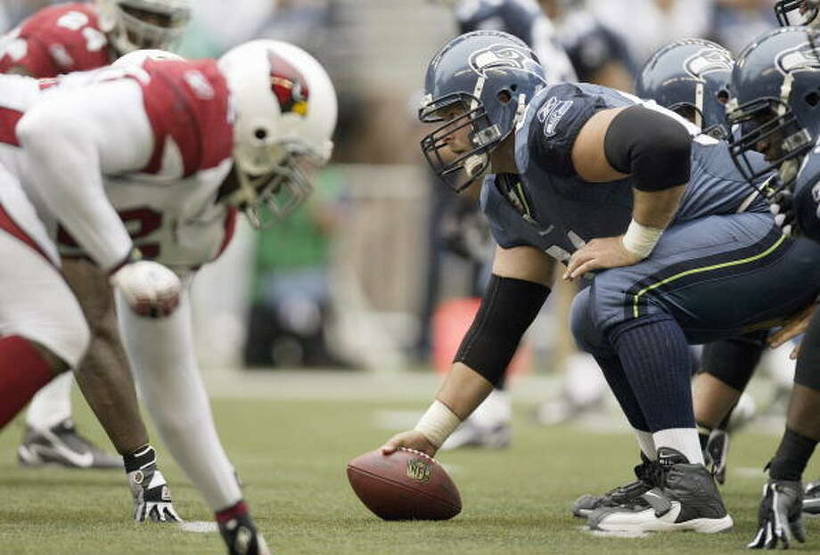Center: Robbie Tobeck (2000-06) Pro Bowl: 2005 | All-Pro: no  He headed up Seattle's offensive line as the Seahawks dominated in the mid-2000s. In 2005, when Seattle went to its first Super Bowl, Tobeck earned Pro Bowl honors for his role in running back Shaun Alexander's MVP season.  Photo: Otto Greule Jr, Getty Images / 2006 Getty Images