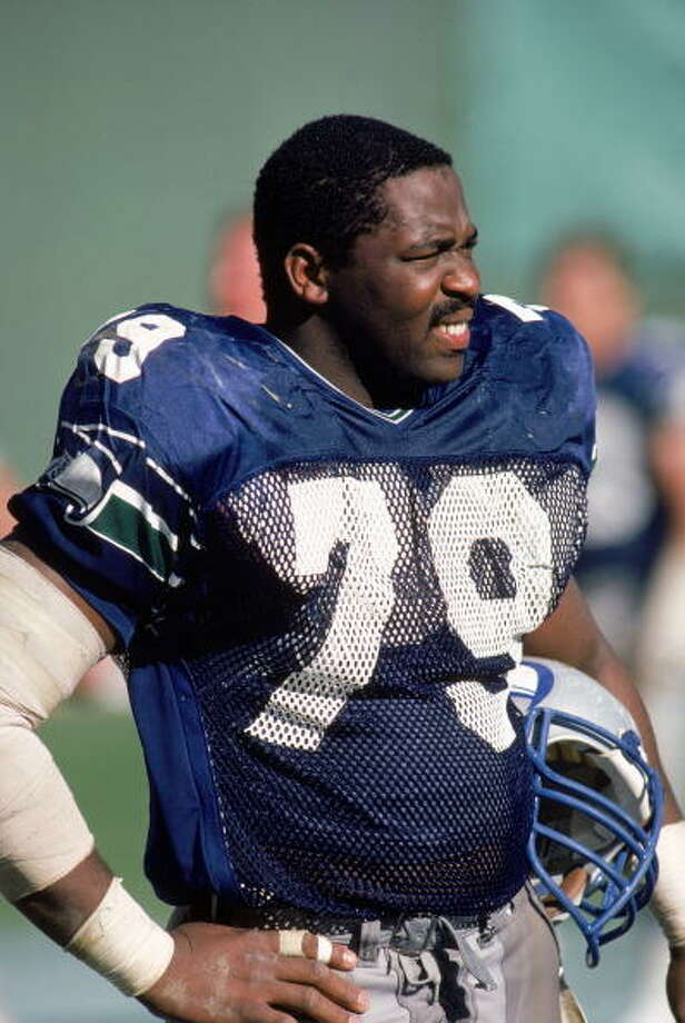 Defensive end: Jacob Green (1980-91) Pro Bowl: 1986, '87 | All-Pro: no Seahawks Ring of Honor (1995)  He was a starter for the Seahawks for 12-straight years -- one of the best players to come through Seattle. Green had 16 sacks in 1983, 13 in '84, 13.5 in '85 and 12 in '86, and earned trips to the Pro Bowl in '86 and '87. He retired in 1992 after a try with the 49ers, and is now remembered in the Seahawks Ring of Honor. Green is also now the father-in-law of Seahawks defensive end Red Bryant.  Photo: Rick Stewart, Getty Images / 1985 Getty Images