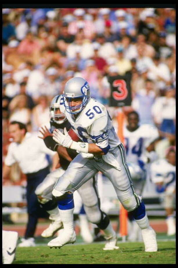 Linebacker: Fredd Young (1984-87)Pro Bowl: 1984, '85, '86, '87   All-Pro: 1987  In all four of his years with the Seahawks, he made it to the Pro Bowl -- and got All-Pro honors in 1987, when he had nine sacks, one 50-yard pick-six and four fumble recoveries. He finished his career with three seasons with the Colts and retired after 1990.  Photo: Mike Powell, Getty Images / Getty Images North America