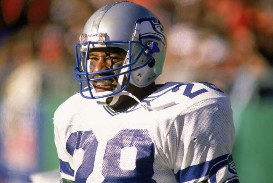 Running back: Curt Warner (1983-89) Pro Bowl: 1983, '86, '87 | All-Pro: no Seahawks Ring of Honor (1994)  In his rookie year, in 1983, he rushed for 1,449 yards and 13 touchdowns as the Seahawks made their way into the AFC Championship game, earning him a spot on the Pro Bowl roster off the bat. Injured for most of '84, he returned in full force and had three more seasons of 1,000-plus rushing yards. In seven years with the Seahawks, he collected 6,705 rushing yards, 55 rushing touchdowns and seven receiving TDs. He retired after 1990 having played one more year for the Rams.  Photo: Jonathan Daniel, Getty Images / 1988 Getty Images