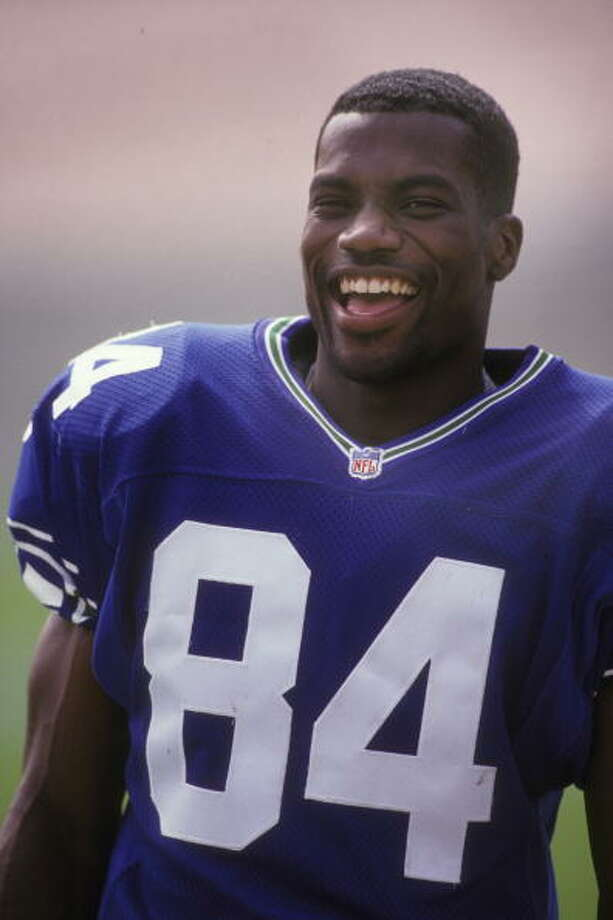 Wide receiver: Joey Galloway (1995-99) Pro Bowl: no | All-Pro: no  The Seahawks were his home for just five of his 16 years in the NFL, but they were his first and formative years. He had 1,000 or more receiving yards in three of his five seasons with the Seahawks, and had 12 and 10 TDs in 1997 and '98, respectively. An injury kept him out for much of 1999, and he found himself with the Cowboys for the 2000 season. Galloway retired after 2010, having played for five NFL teams over his 15-year career.  Photo: Mitchell Layton, Getty Images / 1995 Mitchell Layton
