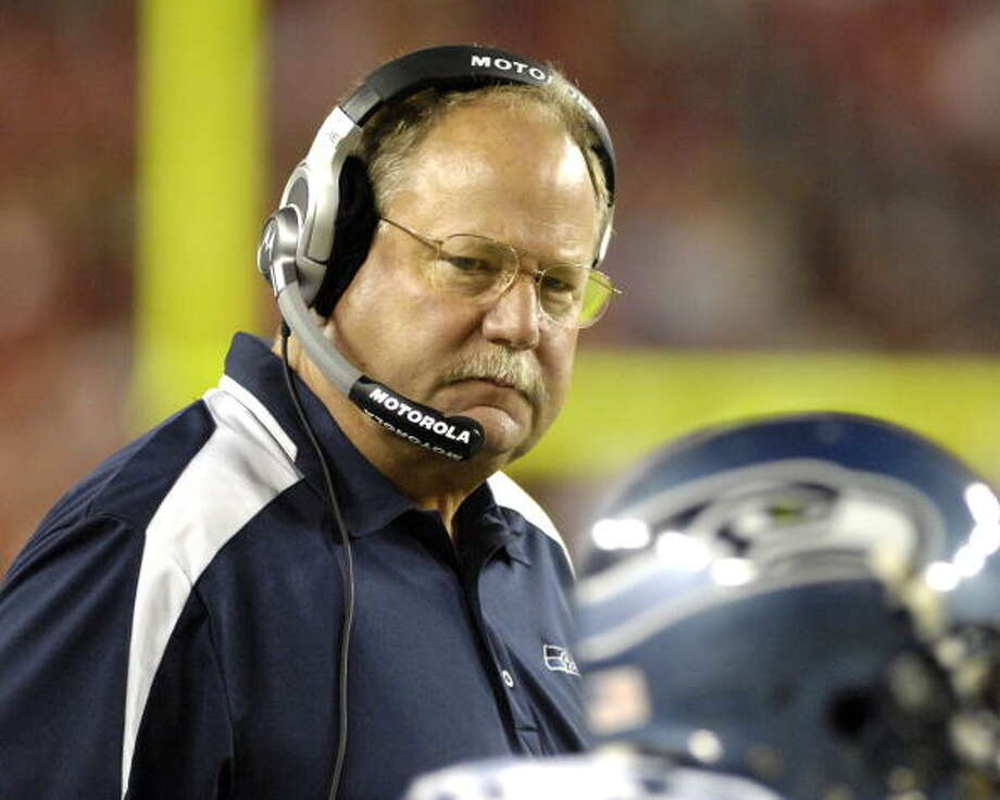 Head coach: Mike Holmgren (1999-2008) Super Bowls: 1996, '97, 2005 | NFL Championship: 1996  Holmgren gets the selection for head coach of this ''dream team'' over, say, Chuck Knox because Holmgren was the only coach to lead the Seahawks to a Super Bowl. He joined Seattle in 1999, having led the Packers to a Super Bowl victory in '96 and a second appearance in '97, and spent 10 years as head coach of the Seahawks. He retired after 2008 with an 86-74 overall record with Seattle, and while the 12th Man was getting a little tired of him by the end of his tenure, Holmgren is remembered fondly by most Seahawks fans. After a stint in the Cleveland front office, Holmgren and his family are now back living in the Seattle area.  Photo: Al Messerschmidt, Getty Images / 2008 Getty Images