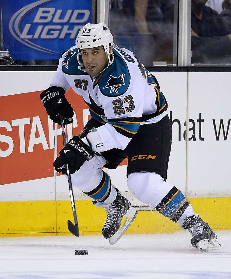 Scott Gomez has played in nine Game 7s in his career, more than any other San Jose player. Photo: Mark J. Terrill, Associated Press