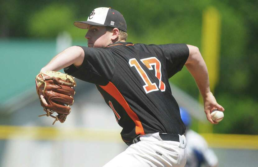 Pat Rarick of Bethlehem delivers a pitch in their game against La Salle on Monday, May 27, 2013 in T