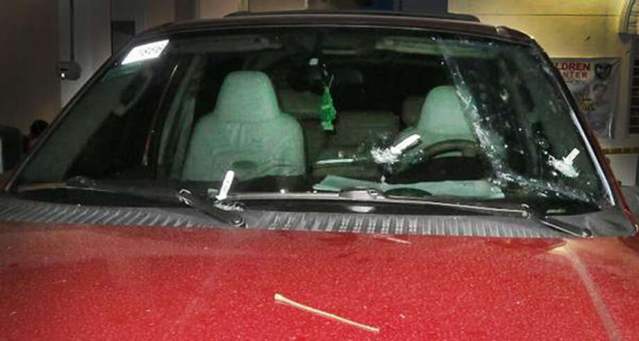 Richard Agnew's SUV was riddled with bullet holes following a brutal assault. (Courtesy Richard Agnew)