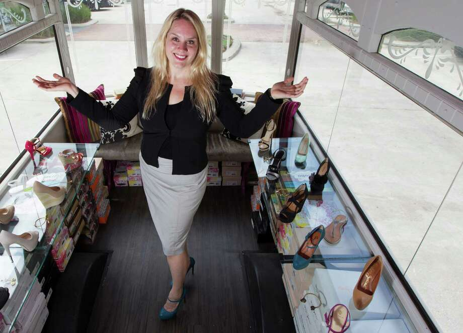 Coryne Rich, tomboy turned fashion enthusiast, found a bus on the Internet and had it converted into a mobile shoe store. Photo: J. Patric Schneider, Freelance / © 2013 Houston Chronicle