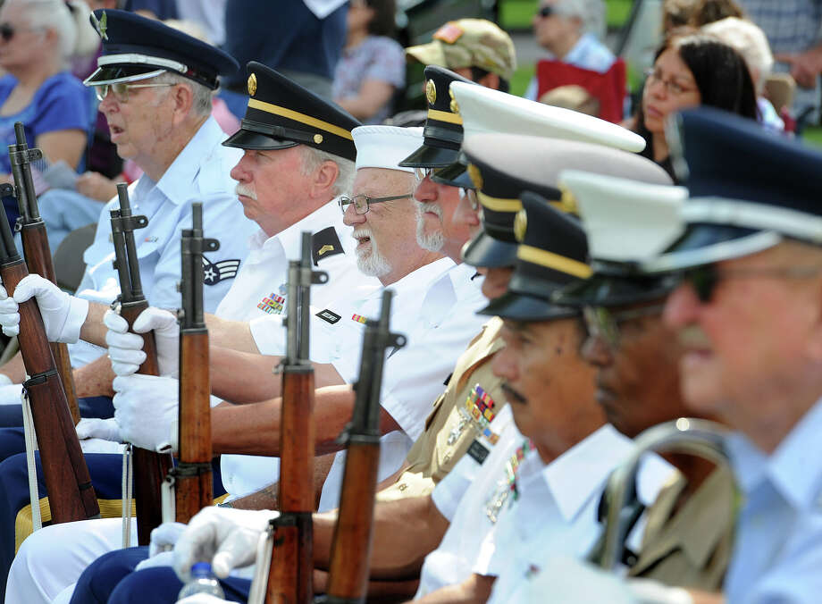 The Southeast Texas Veterans Service Group during the Memorial Day Services at Forest Lawn on Monday.  Photo taken Monday May 27, 2013 Guiseppe Barranco/The Enterprise Photo: Guiseppe Barranco, STAFF PHOTOGRAPHER / The Beaumont Enterprise