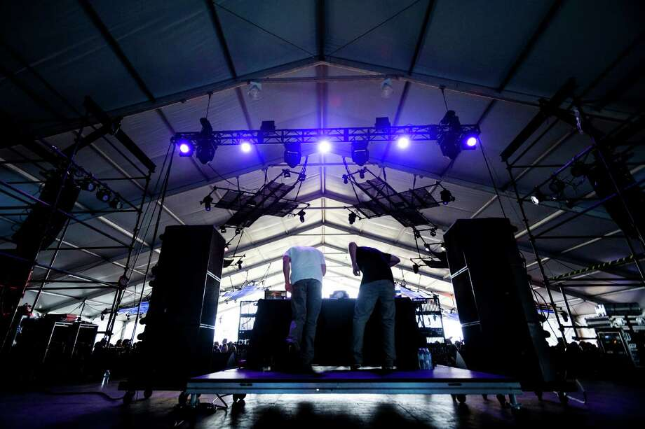Odesza performs on the El Chupacabra stage on the fourth and final day of the annual Sasquatch music festival Monday, May 27, 2013, at The Gorge Amphitheatre in George. Photo: JORDAN STEAD, SEATTLEPI.COM / SEATTLEPI.COM