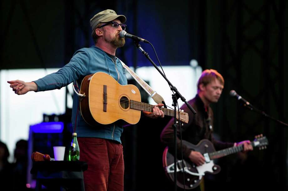 Cake performs from the main stage on the fourth and final day of the annual Sasquatch music festival Monday, May 27, 2013, at The Gorge Amphitheatre in George. Photo: JORDAN STEAD, SEATTLEPI.COM / SEATTLEPI.COM