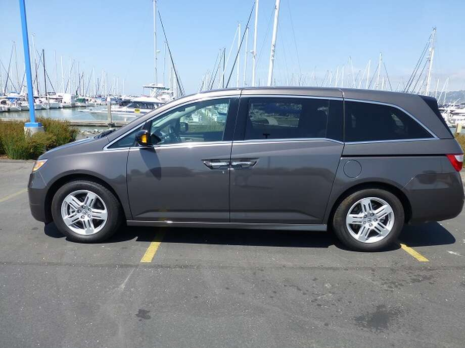 The Honda Odyssey looks like a big rolling box, but it will haul eight people and a bunch of cargo. (All photos by Michael Taylor)