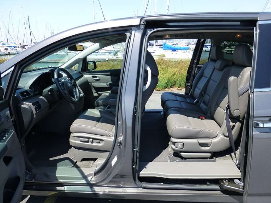The Odyssey has power-operated sliding rear doors, left and right.
