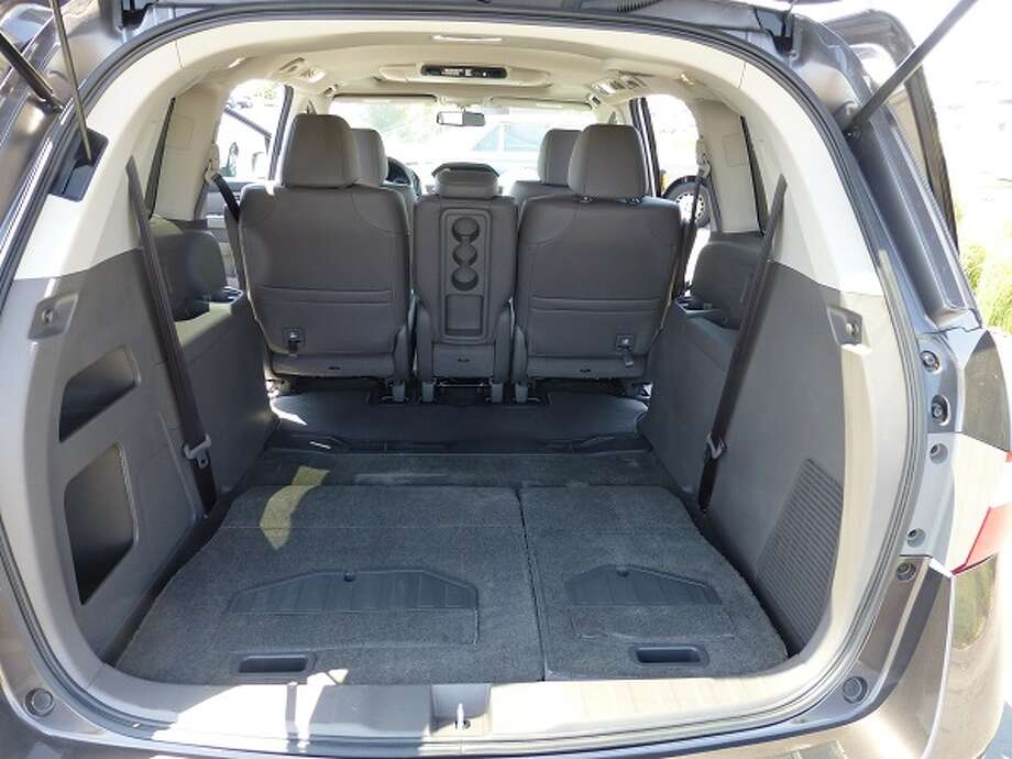 With the third row of seats folded into the floor, you have 93 cubic feet of cargo space.