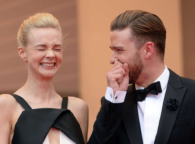 "Actress Carey Mulligan (L) and actor Justin Timberlake attend the ""Inside Llewyn Davis"" Premiere during the 66th Annual Cannes Film Festival at Grand Theatre Lumiere on May 19, 2013 in Cannes, France. Photo: Dave J Hogan, Getty Images / 2013 Dave J Hogan"