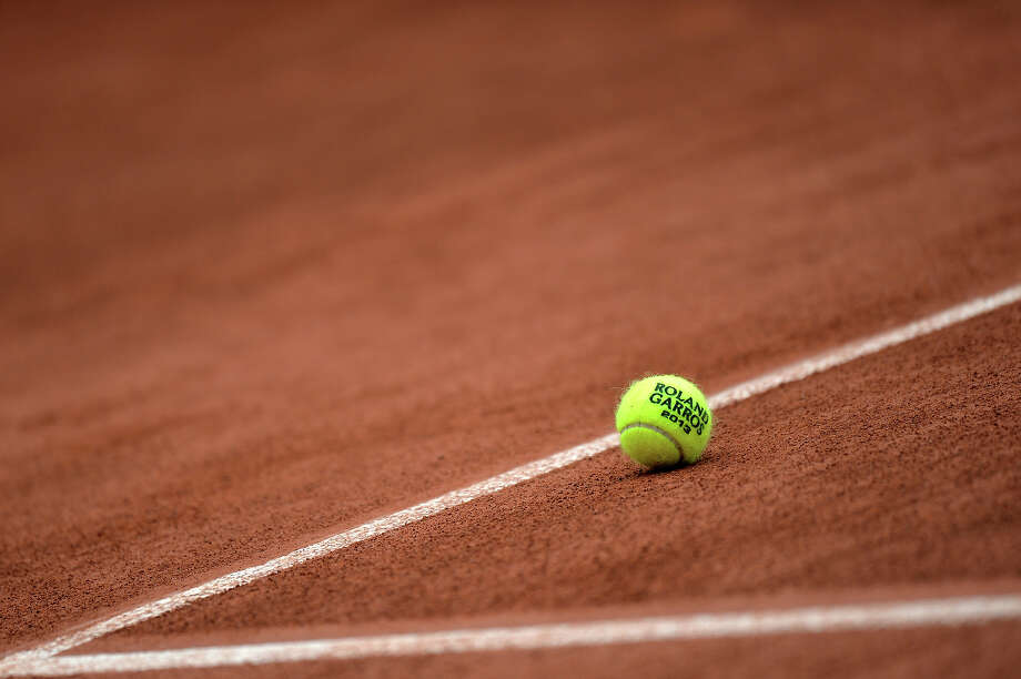 The official ball of the French Tennis Open tournament is pictured on the eve of the event's start at the Roland Garros stadium in Paris, on May 25,  2013. Photo: MIGUEL MEDINA, AFP/Getty Images / 2013 AFP