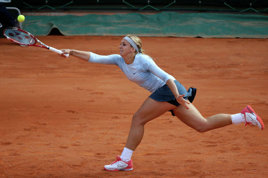 Germany's Sabine Lisicki returns to Sweden's Sofia Arvidsson during their French Tennis Open first round match at the Roland Garros stadium in Paris, on May 26,  2013. Photo: KENZO TRIBOUILLARD, AFP/Getty Images / 2013 AFP
