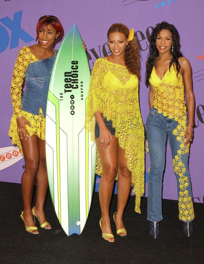 Um, Michelle. Your shirt is leaking onto your pants. Also, Kelly. That's a very creative use of denim. Beyonce is saved from critique (undeservedly) by the other two outfits. Photo: SGranitz, WireImage / WireImage
