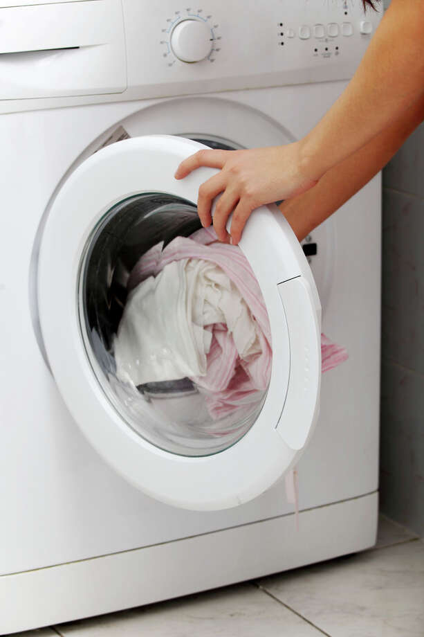 While drain cleaners, oven cleaners and toilet-bowl cleaners may have the most caustic ingredients, laundry rooms can be the site of irritants, too. Dyes and scents in various laundry products can cause skin and eye irritation. iStockPhoto/Thinkstock Photo: Contributed Photo