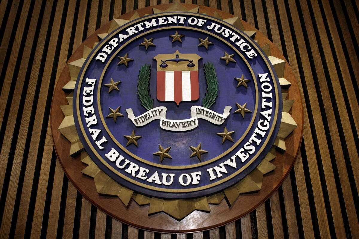 The FBI seal, pictured in a Getty Images photo.