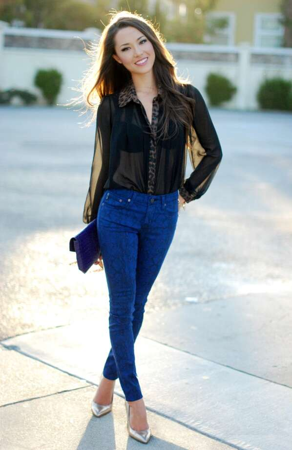 Jessica Ricks, of Hapa Time, works as a graphic artist and web editor and is known for her flirty, polished style. Photo: Hapa Time