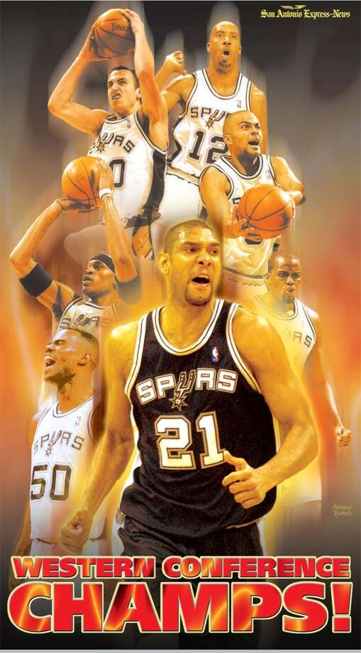 Spurs poster commemorating their Western Conference win from the May 30, 2003 Express-News edition.