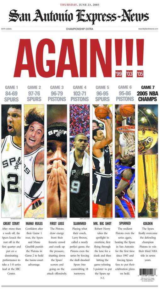 Special Express-News section from June 23, 2005 of the Spurs championship win.