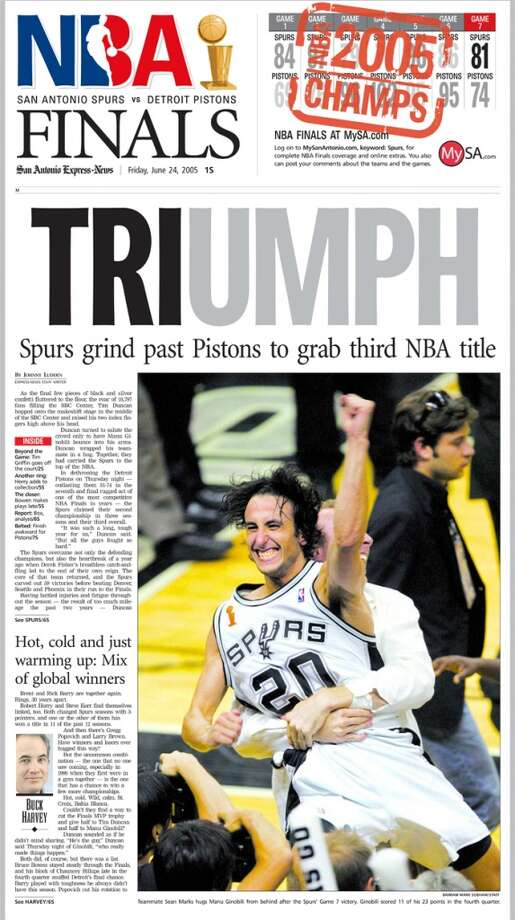 The June 24, 2005 Express-News special section of the Spurs championship win.