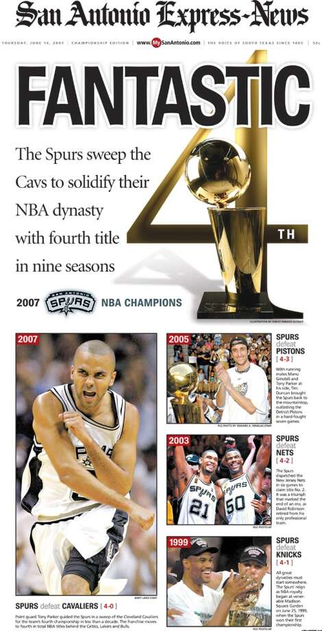 Express-News extra edition from June 14, 2007 after the Spurs won their 4th championship.
