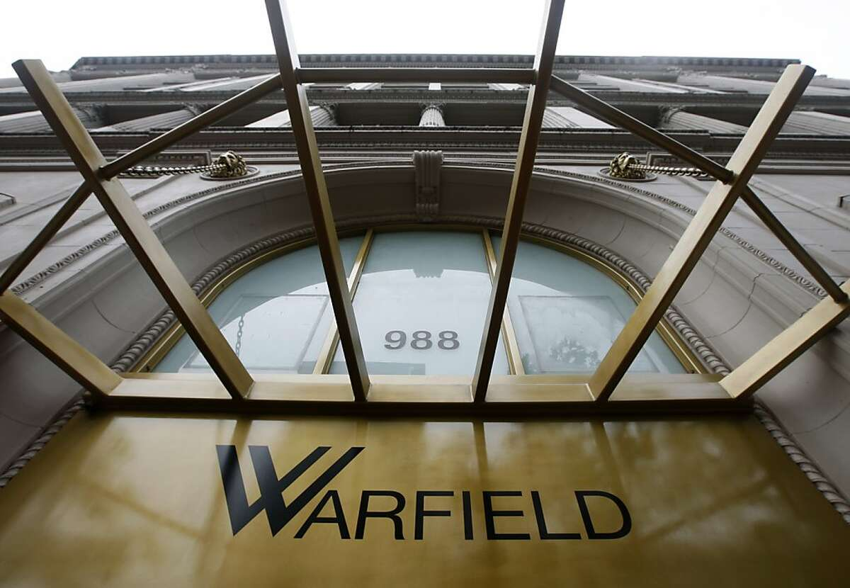 The entrance of the Warfield building is seen at Taylor and Market streets in San Francisco, Calif., on Tuesday, April 27, 2010. Developers are renovating the top three floors into office condo spaces as well as office space on the lower five floors.