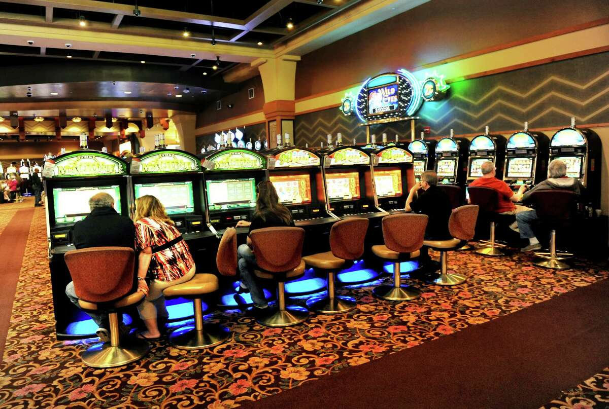 Gamers play the video slot machines on Tuesday, May 28, 2013, at Saratoga Casino and Raceway in Saratoga Springs, N.Y. (Cindy Schultz / Times Union)