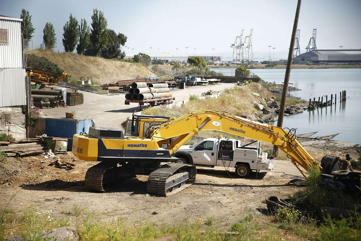 Equipment and supplies are seen on the property of 900 Innes Street on Thursday, May 23, 2013 in San Francisco, Calif.