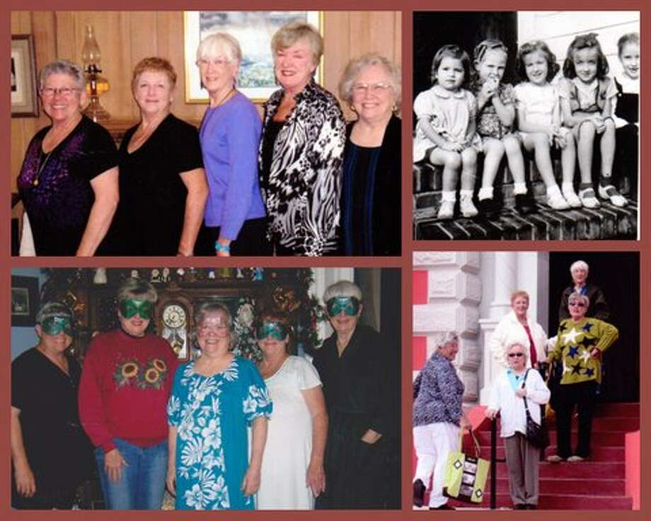 Longtime friends from Pecan Park in Houston, we five have maintained our friendship over all those years in between. From oldest: Barbara Wilson... on the right in that early photo, and in descending order, Linda Doll, Judy Henry, Kay Allday and the youngest, turning 70 this July, Diann Hoops Photo: Picasa, Courtesy