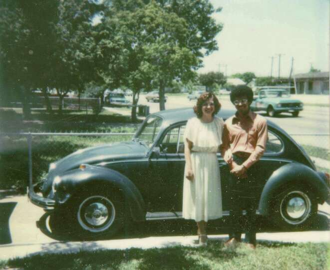 Taken on April 24, 1978, Corpus Christi, TX in front of David's mother's home.  Pictured is David Cu