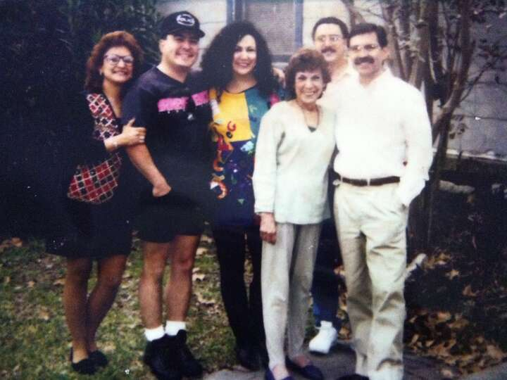 1990:Taken in the front yard of Mom's home in San Antonio (near St. Mary's University). From left to