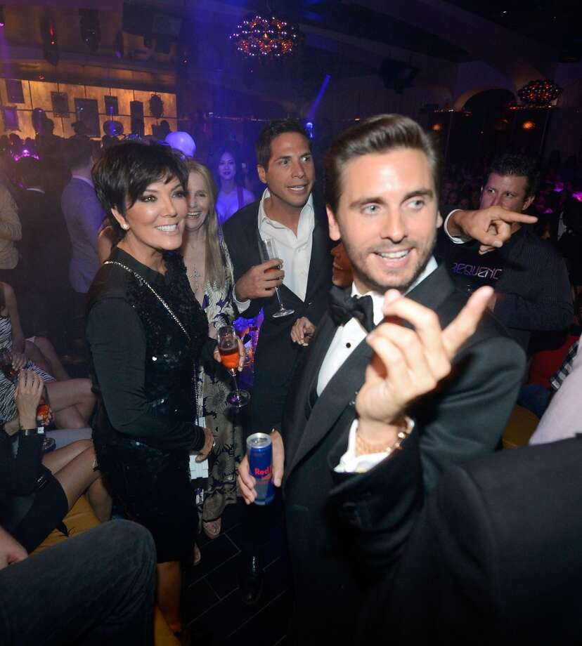 LAS VEGAS, NV - MAY 26:  Television personalities Scott Disick (R) and Kris Jenner celebrate Scott's 30th birthday at Hyde Bellagio at the Bellagio over Memorial Day weekend on May 26, 2013 in Las Vegas, Nevada.  (Photo by Jeff Bottari/WireImage)