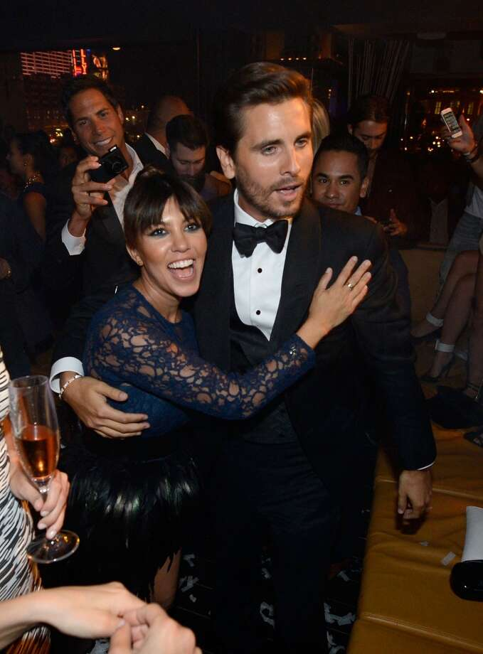 LAS VEGAS, NV - MAY 26:  Television personalities Scott Disick (R) and Kourtney Kardashian celebrate Scott's 30th birthday at Hyde Bellagio at the Bellagio over Memorial Day weekend on May 26, 2013 in Las Vegas, Nevada.  (Photo by Jeff Bottari/WireImage)