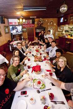 Attendees at Polonia, Houston's only Polish restaurant.