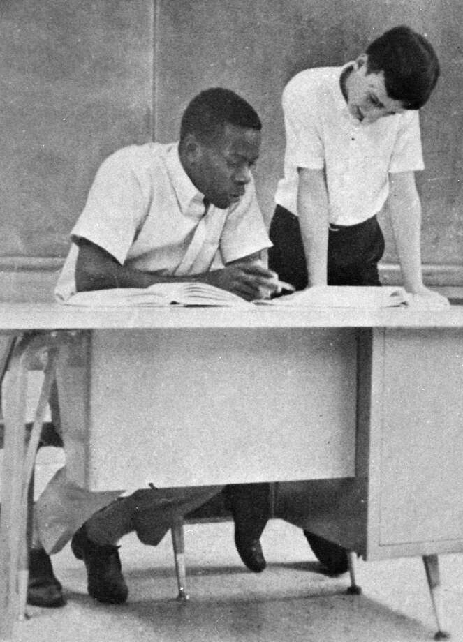 Clarence Thomas is seen in a high school year book photo, circa 1959.