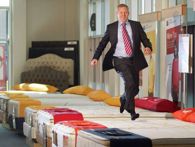 Portrait of Steve Stagner, CEO and president of Mattress Firm. at the Mattress Firm corporate office store Tuesday, May 21, 2013, in Houston. Photo: Johnny Hanson, Houston Chronicle / © 2013  Houston Chronicle