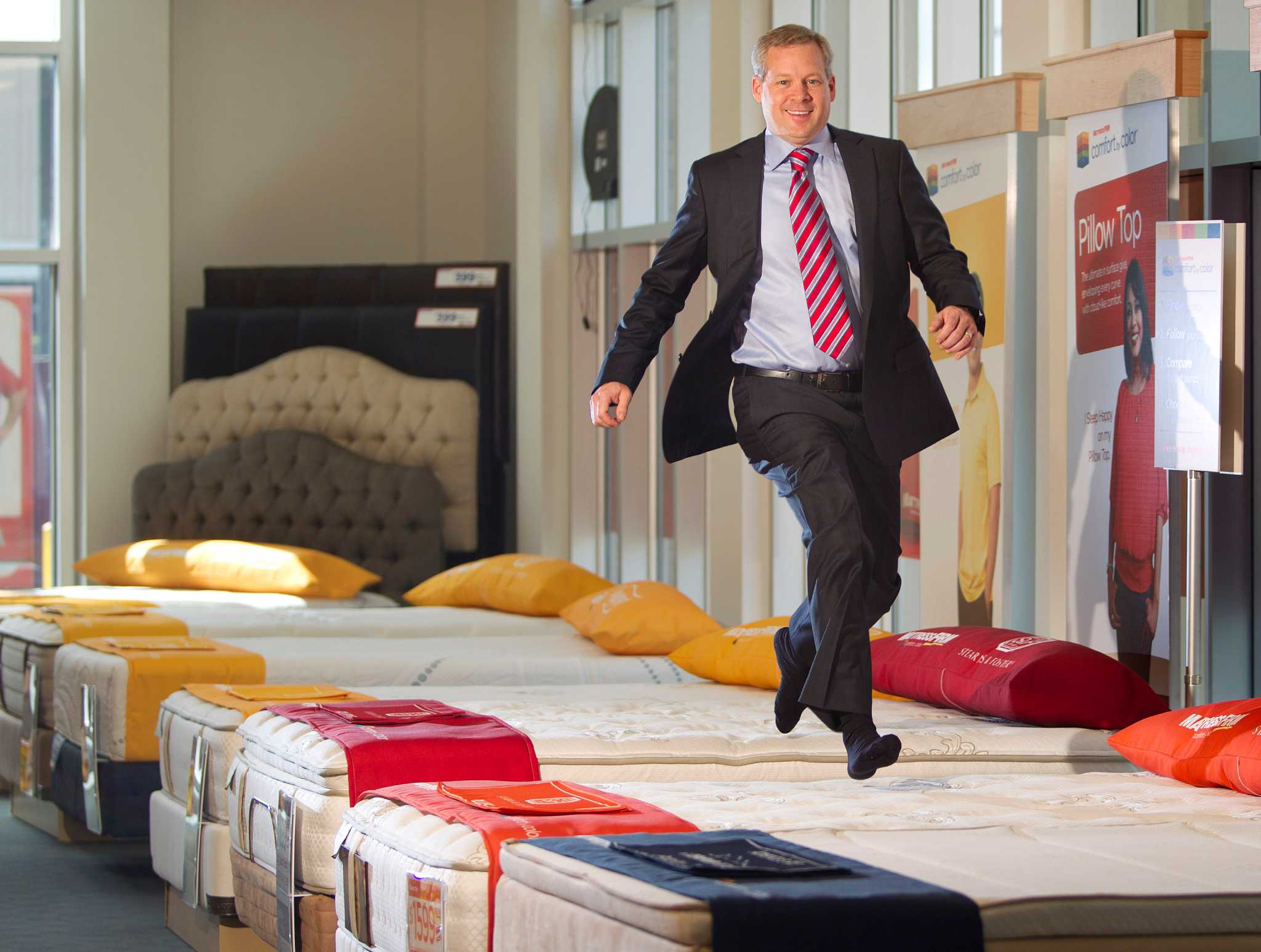 Mattress firm not content to rest after climb to no 1 for Firm company
