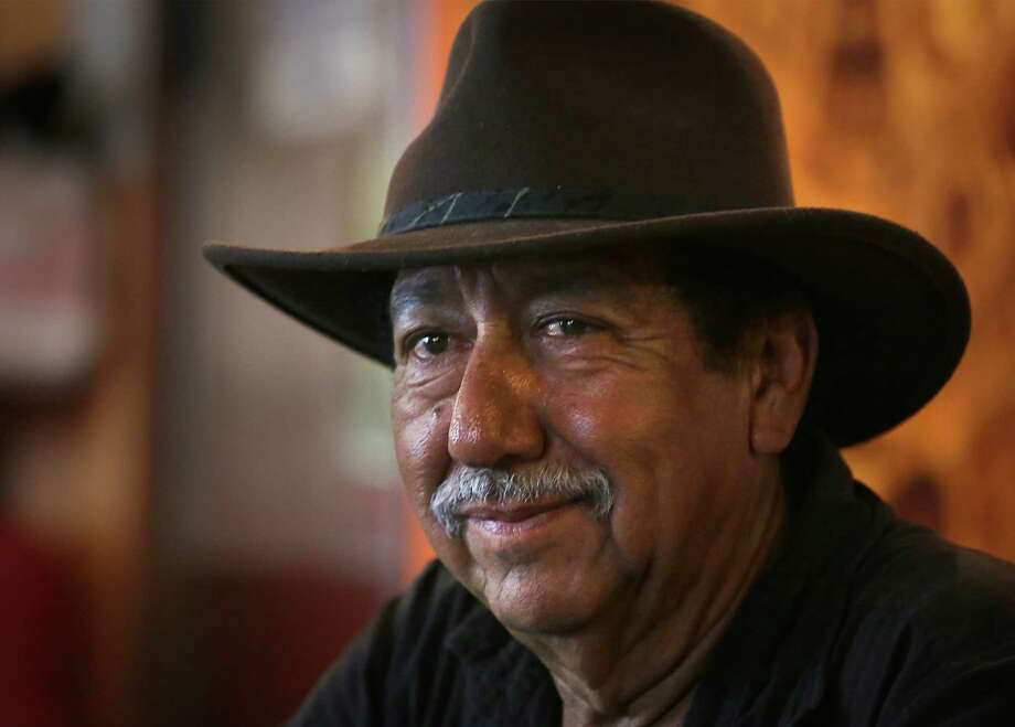 "Igo Mendoza Gallegos has recorded seven Spurs-themed songs in the past decade. The most famous is ""Go Espurs Go,"" originally recorded in 2008. Photo: Bob Owen / San Antonio Express-News"