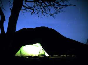 Guadalupe Mountains.Camped in Guadalupe Mountains National Park the night before heading up the high point of Texas. Photo by Nels Ecklund, April 1997.