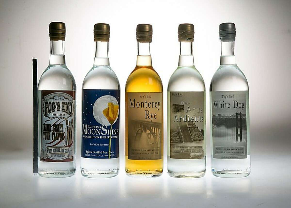 The Fog's End Distillery line of award-winning spirits includes 750ml bottles of 100-proof California Moonshine (suggested retail $27), which has corn and cane sugar flavors; 90-proof Monterey Rye ($32); 80-proof Hand Craft Your Flavor Whiskey, which comes with a stick of medium-toasted American white oak ($29); the chili-infused, 80-proof Primo Agua Ardiente -- Cousin's Fire Water ($27) and the 80-proof White Dog, made from organic rye ($27).