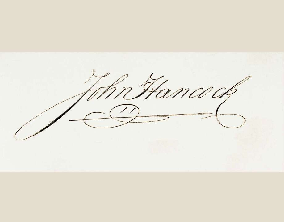 You literally cannot get more American than John Hancock, whose signature features prominently on the Declaration of Independence, but the insurance company that bears his name, John Hancock Mutual Life Insurance Co., was sold to Manulife Financial Corporation, a Canadian corporation. Photo: UniversalImagesGroup, Getty / Universal Images Group Editorial