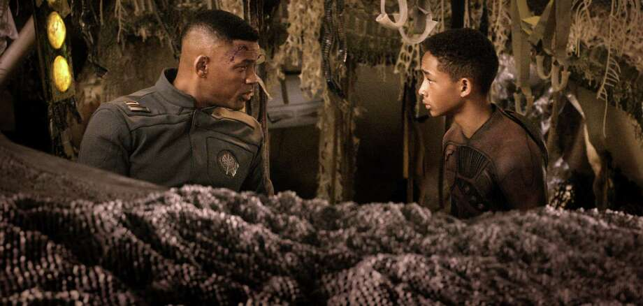 """After Earth,"" a sci-fi coming-of-age story, Tyler Perry's ""A Madea Christmas"" and ""Movie 43"" are tied with six Razzie nods each. Photo: Courtesy Of Columbia Pictures., Associated Press / Sony - Columbia Pictures"