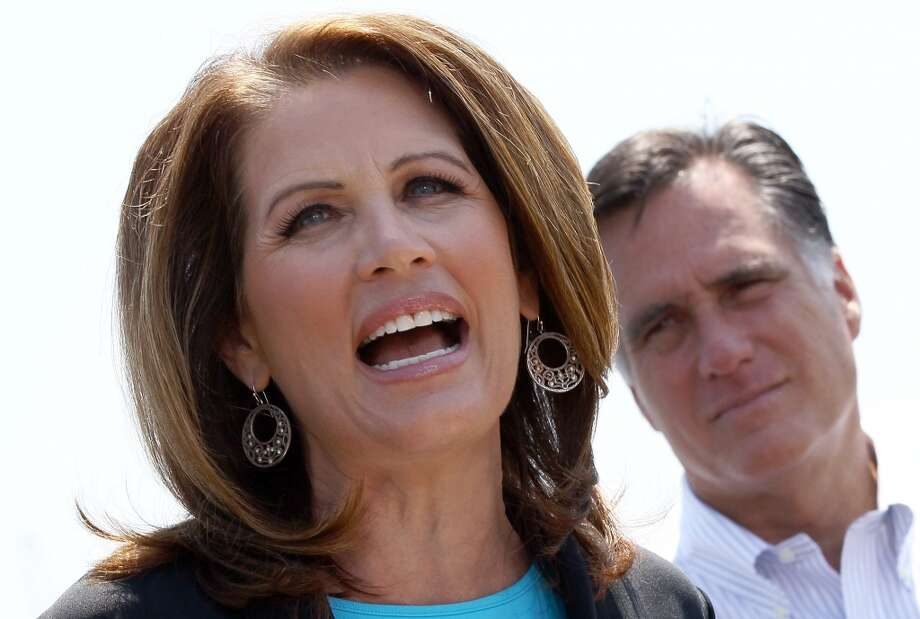 "Bachmann via Politifact:  Says Mitt Romney, as governor of Massachusetts, ''put into place socialized medicine.'' The IRS is going to be ""in charge"" of ''a huge national database'' on health care that will include Americans' ''personal, intimate, most close-to-the-vest-secrets.''  Politifact's response: ''Nearly the opposite''"
