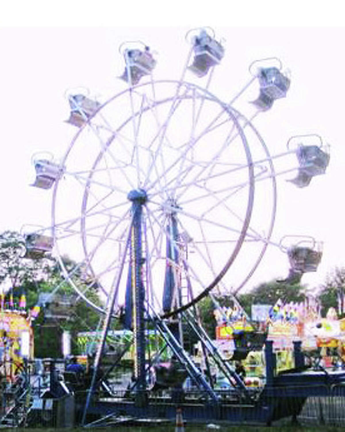 A Ferris wheel is traditionally one of the most popular rides at the Yankee Doodle Fair, sponsored by the Westport Women's Club, from June 13-16.
