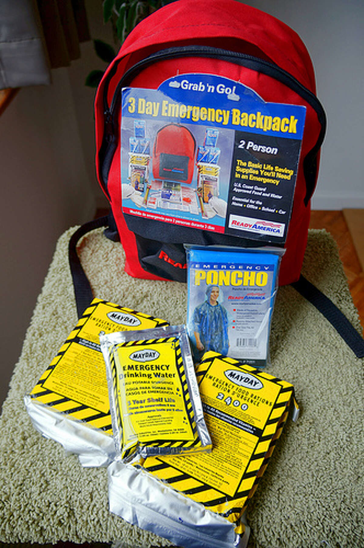 Emergency hurricane kit:Your first step should be to build an emergency kit with some essential supplies and plan for your family. Such supplies should include enough food and water for at least three days, medications, a flashlight, batteries, cash and first aid supplies. Don't forget your pet's needs as well. Photo: augieray, Flickr Source: FEMA