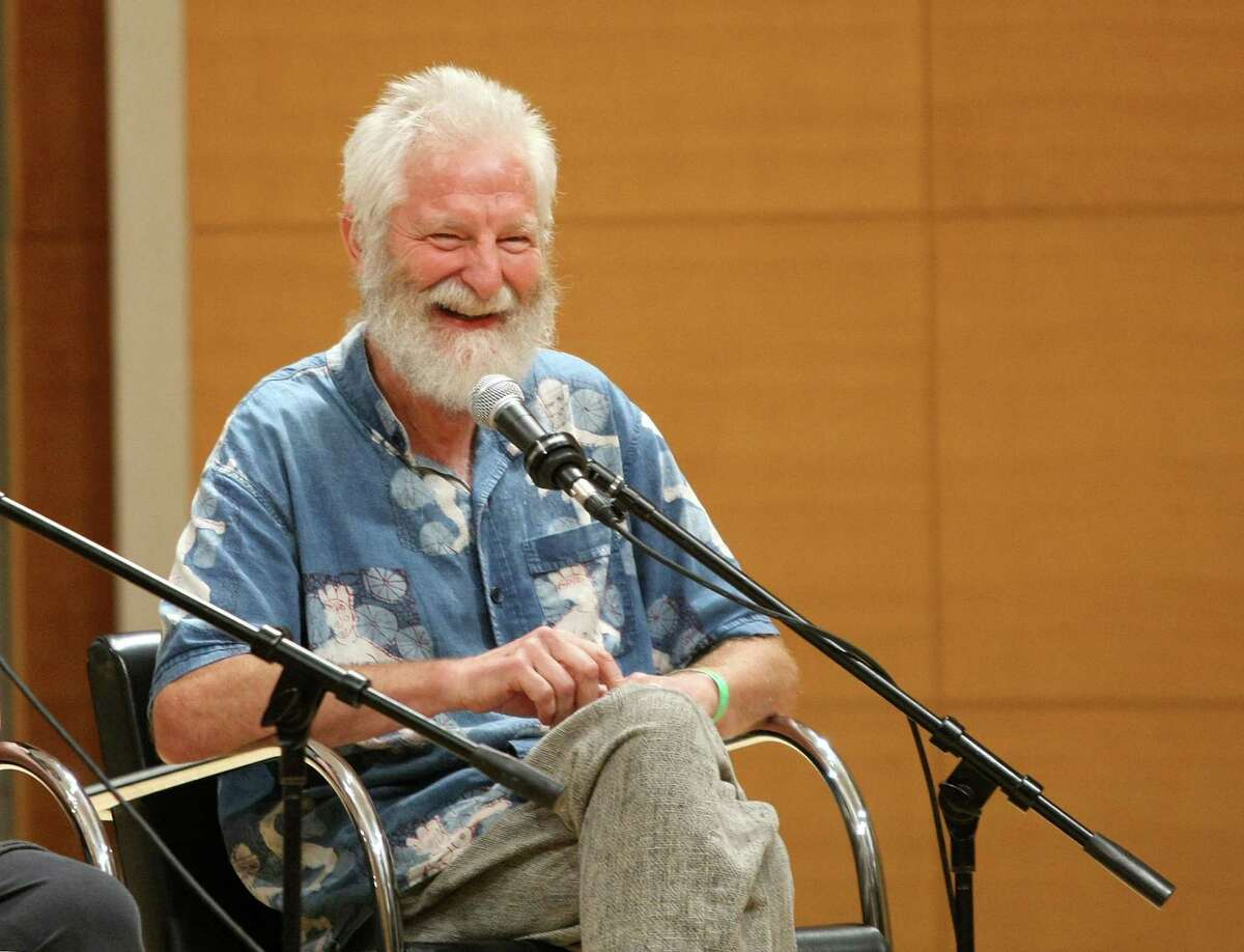 """NEW YORK - AUGUST 23: Film subject, artist Isaiah Zagar takes part in a Q&A following the HBO documentary screening of """"In A Dream"""" at the Brooklyn Museum on August 23, 2009 in the Brooklyn borough of New York City. (Photo by Michael Loccisano/Getty Images for HBO)"""