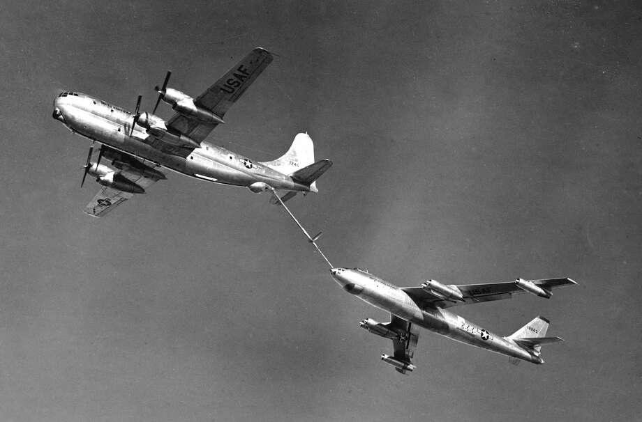 When we think of Boeing aerial refueling tankers, the airplane that generally comes to mind is the KC-135 Stratotanker, which was based on the same prototype as Boeing's 707 jetliner. But, before that, Boeing based a tanker on the B-29 Superfortress bomber.First, Boeing based the C-97 military transport on the B-29. Then, it modified the C-97 into a tanker, the KC-97. Boeing delivered the first of 159 KC-97F models to the U.S. Air Force 60 years ago, on May 29 1953. Photo: U.S. Air Force