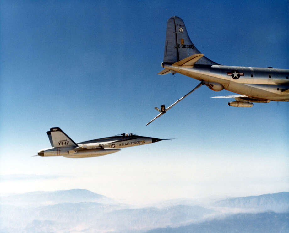 The Air Force gradually replaced KC-97s with KC-135s for mid-air refueling after 1956, but continued to use the older airplanes for other roles until it retired its last C/KC-97 in 1973, according to the Air Force. Photo: U.S. Air Force